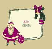 Christmas card with Santa — Wektor stockowy