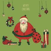 Santa claus — Vecteur