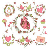 Vector drawing of the heart, anatomical — Stock Vector