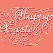 Stock Vector: Happy Easter hand lettering