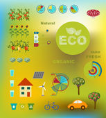 Ecologically friendly production methods — Stock Vector