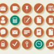 Business and office icons — Stock Vector #42418687