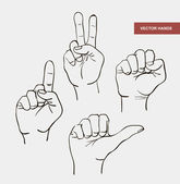 Image hands various gestures indicate — Stock Vector