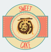 Sweet cake card — Stock Vector