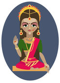 Indian goddess parvati — Stock Vector