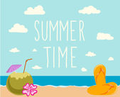 Summer time background — Vector de stock