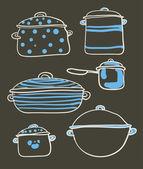 A Cookware set — Stock Vector