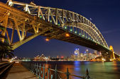 Sydney, Harbour Bridge by Night — Stock Photo
