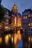 Amsterdam, st. Nicolaaschurch by Night — Stock Photo