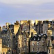 Edinburgh, Scotland, Houses in the Evening Sun — Stock Photo