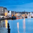 Edinburgh, Scotland, Old Harbour Leith — Stock Photo