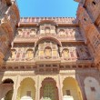 Stock Photo: Rajasthan, India, Udaipur fortress: sandstone facade.