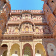 Rajasthan, India, Udaipur fortress: sandstone facade. — Stock Photo