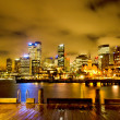 Sydney, Harbour by Night — Stock Photo