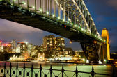 Sydney, Harbour Bridge and Luna Park by Night — Stock Photo
