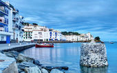 View of village of Cadaques at Dusk. — Stock Photo