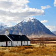 Scotland: Highlands with Houses — Stock Photo