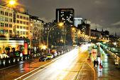 Hamburg, Germany, Harbour-Bridge by night — Stock Photo