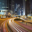 Стоковое фото: Hongkong financial district at night