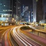 Hongkong financial district at night — Stock Photo