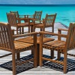 Tables at a beach bar — Stock Photo