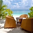 Stock Photo: Beach bar at luxury resort