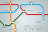Successful business network — Stock Photo