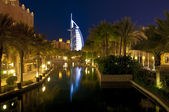Burj Al Arab at night — Stock Photo