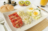 Healthy breakfast - keep the diet — Stock Photo