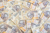 A lot of Polish money — Stock Photo