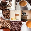Coffee - collage of six photos — Stock Photo