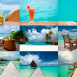 Stock Photo: Tropical holidays collage