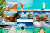 Tropical holidays collage — Stock Photo