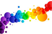 Colorful bubbles on white background — Stock Photo