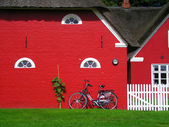 Scandinavian red houses — ストック写真