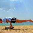 Yoga at the seashore — Stock Photo #30159783
