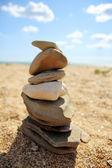 The Balanced Design of Seashore Stones — Stock Photo