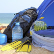 Tent on the beach — Stock Photo #31013379