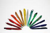 Un set di penne — Foto Stock
