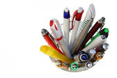 Pens in Glass — Stock Photo