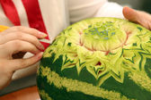 Watermelon Carving — Stock Photo