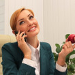 Beautiful Businesswoman Talking by The Phone — Stock Photo
