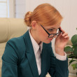 Elegance Businesswoman Working in Her Working Place — Stock Photo #34354585