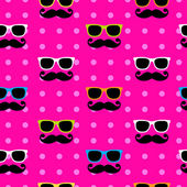 Sunglasses&moustache pattern — 图库矢量图片