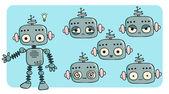 Friendly robot — Stock Vector