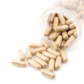 Natural organic herb vitamin capsule — Stockfoto