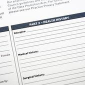 Medical Form — Foto Stock