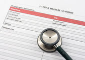 Medical Form, document, stethoscope — Foto Stock