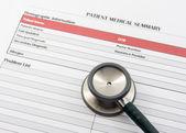Medical Form, document, stethoscope — Stock fotografie