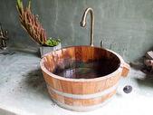 Wood sink — Stock Photo